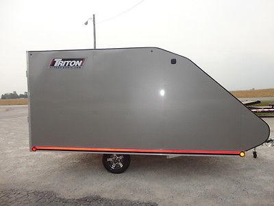 2016 TRITON TC128 ALUMINUM SNOWMOBILE TRAILER ATV MOTORCYCLE AL