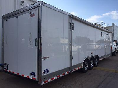 2013 8.5x37.5 Cargo Mate Enclosed Race Car Trailer Hauler Loaded AC Awning Nice