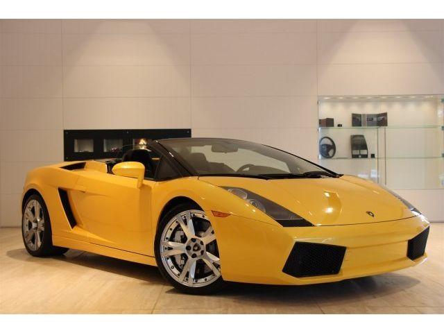 Lamborghini : Gallardo Spyder - SPYDER, CALISTOS, REAR CAM, YELLOW PIPING, BRANDING PKG, E-GEAR, CLEAN!