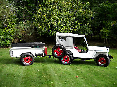 Willys 1950 willys jeep cj 3 a 4 wd all original frame off rust free turnkey w trailer nr