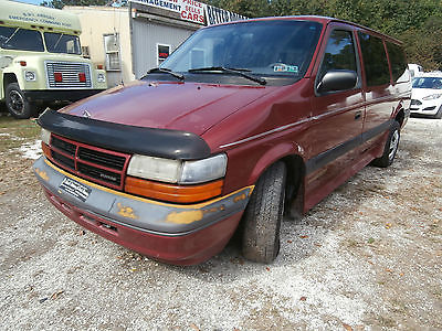 Dodge : Grand Caravan 1994 Dodge Grand Caravan SE Wheel chair lift  1994 dodge grand caravan se wheel chair lift handicapped access low reserve