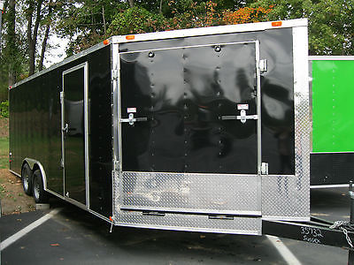 New 2016 8.5x20 V-NOSE Enclosed Trailer with 2 Ramps