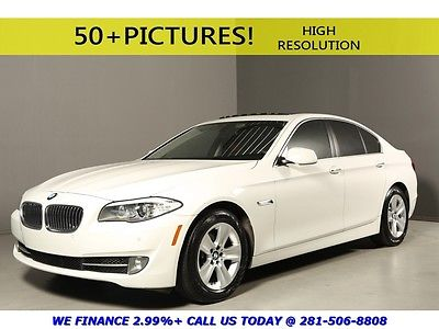 BMW : 5-Series 2013 528i SUNROOF LEATHER HEATSEAT PREMIUM REARCAM 2013 bmw 528 i sunroof leather heatseat premium pkg rearcam white cinnamon brown