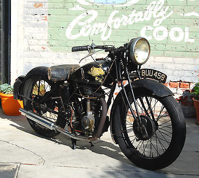 Norton 1935 Rudge Tourist 250 Cc Rare Barn Find But Runs