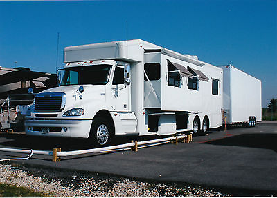 NRC Freightliner Race Hauler with Performax 36' four car stacker