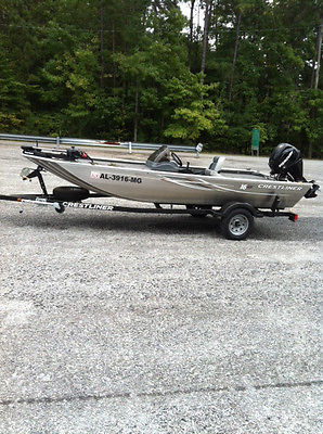 2012 Crestliner 16 Storm Bass/Crappie Boat, Motor and Trailer