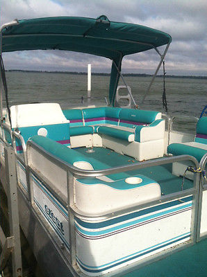 Very Nice Crest 20' PONTOON BOAT with 40hp engine...bimini top. MAKE BEST OFFER