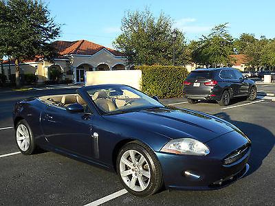 Jaguar : XK XK XK CONVERTIBLE NEW GENERATION, INDIGO BLUE/CARAMEL LOW MILES. GORGEOUS CAR!!!