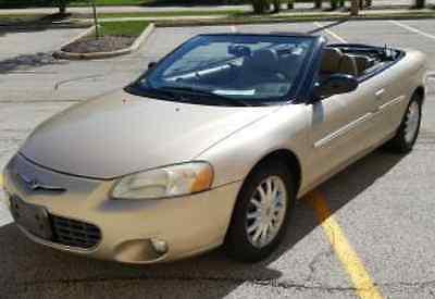 Chrysler : Sebring LXi 2001 chrysler sebring lxi convertible 89 k mi clear carfax 2 owner