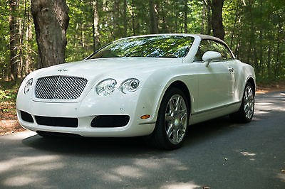 Bentley : Continental GT GTC 2009 bentley continental gtc convertible white mulliner package limited warranty