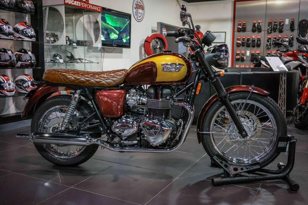 Custom Bonneville motorcycles for sale in Brea, California