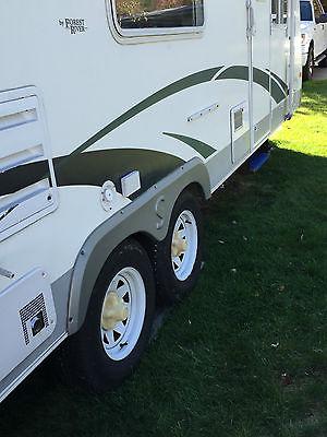 Pristine travel trailer 1year old awning full size refrigerator sleeps six