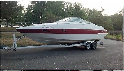 CHRIS CRAFT CONCEPT 25.8. (1992). WITH DOUBLE AXEL TANDILUM TRAILER FRESH WATER