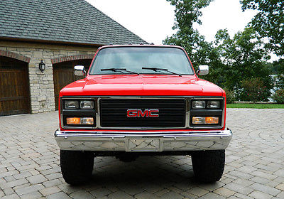 GMC : Sierra 2500 2500 1986 gmc sierra 2500 4 x 4 restored vortec leather mint condition
