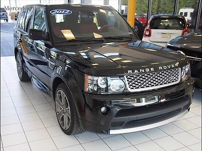 Land Rover : Range Rover Sport SC Autobiography 2012 range rover sport autobiography black red leather supercharged