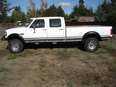 Ford : F-350 XLT 1993 ford f 350 xlt crew cab pickup 4 door 7.5 l 4 x 4 low miles make offer