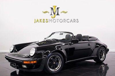 Porsche : 911 Speedster 1989 porsche speedster black on black rare collector car a pristine example