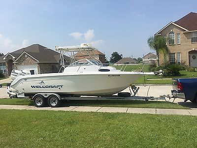 1995 Wellcraft 238 Coastal Sport Fisherman with Twin Evinrudes 150HP