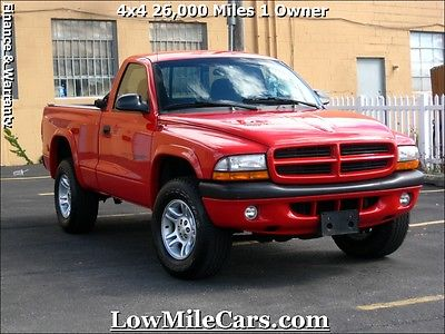 Dodge : Dakota Sport Extra Low Miles 4x4 2001 Dodge Dakota Sport 26K Miles