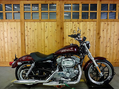 Harley-Davidson : Sportster 2014 harley davidson sportster super low only 794 miles two tone red sunglo
