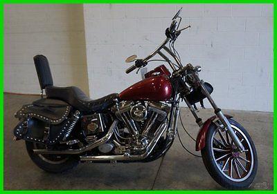 Harley-Davidson : Dyna Used 85 Harley-Davidson Dyna Fat Bob Custom Work Exhaust Leather Saddlebags