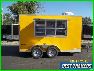 2016 Look 7 x 12 vision New vending concession trailer electrical and AC loaded