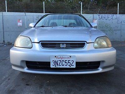 Honda : Civic LX 1996 honda civic lx sedan silver clean title original miles smogged