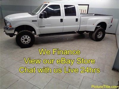 Ford : F-350 Lariat 4WD Crew Diesel Dually 02 f 350 lariat 4 x 4 7.3 diesel dually leather heated seats we finance texas