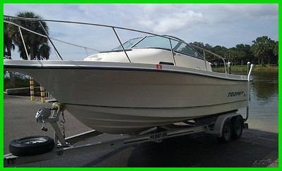 2002 Trophy 2052 Walk Around Cuddy 4.3L V6 Mercruiser Runs Great Aluminum TRLR