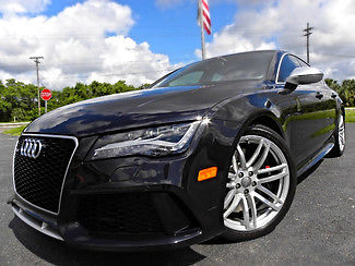 Audi : Other RS7 BLACK/BLACK CARBON FIBER WARRANTY 1 OWNER RS7*BLACK/BLACK*CARBON FIBER*WARRANTY*1 OWNER*PRESTIGE*CARFAX CERT*WE FINANCE*FL