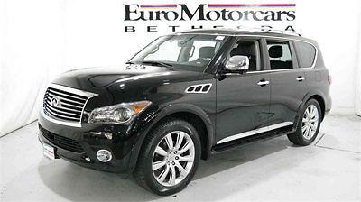 Infiniti : QX56 4WD 4dr 7-passenger 2012 infiniti qx 56 4 wd dvd q 80 suv black leather 2013 navigation qx 56 infinity