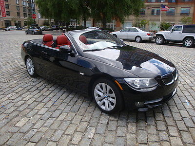 BMW 3 Series 328I CONVERTIBLE BLACK RED 4K MILES 2012 Bmw