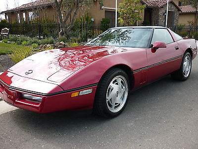 Chevrolet : Corvette 2 door coup 1989 corvette coupe only 31 k actual miles