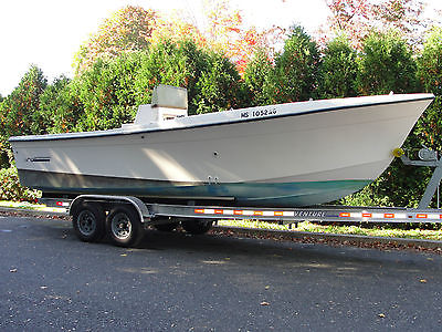 1992 Sea-Ox 25 Center Console with full transom & twin outboard bracket-Project