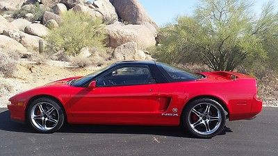 Acura : NSX 1991 red 5 speed coupe ac yokahoma wheels computer chipped nitrous