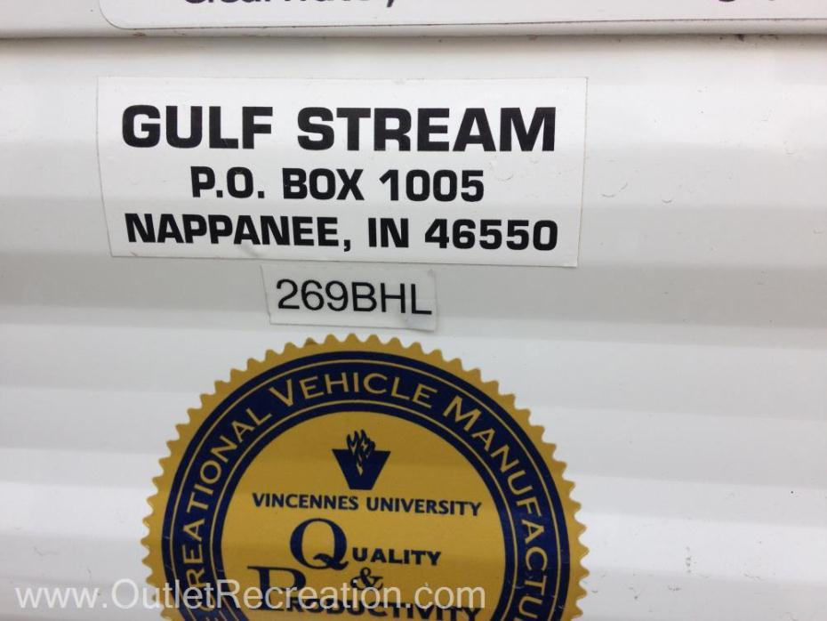2012 Gulf Stream Innsbruck 269BHL