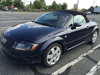 Audi : TT Roadster Convertible 2-Door 2002 audi tt quattro awd convertible 6 speed low miles clean 225 hp cheap on gas