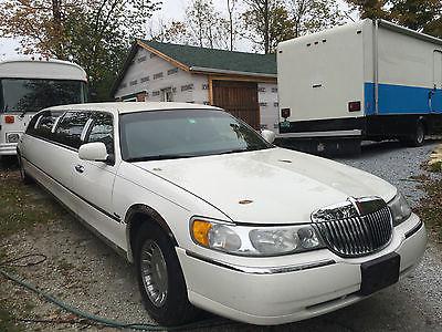 Lincoln : Town Car IOWN CAR 2002 dabryan 10 pax lincoln 110 limousine shuttle bus taxi ex shape low miles