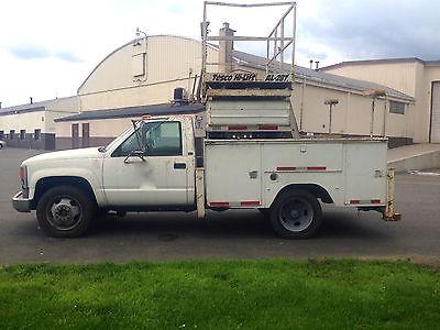 GMC : Sierra 3500 sierra 1994 gmc sierra utility truck tesco hi lift scissor platform aerial