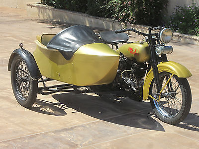 Harley-Davidson : Other 1925 harley davidson j model with sidecar