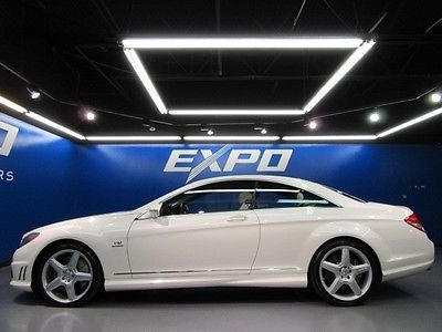 Mercedes-Benz : CL-Class CL65 AMG Mercedes-Benz CL65 AMG designo Mystic White Edition Distronic Nav $210kMSRP!