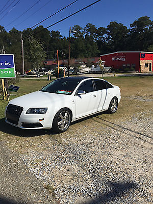 Audi : S6 Base Sedan 4-Door White 2008 Audi S6 5.2L V10, new tires, low miles, new tires, mint condition!