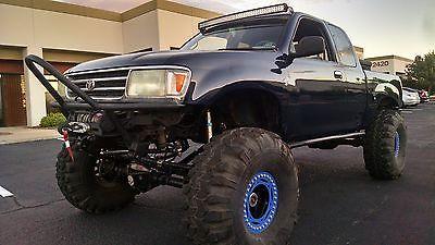 Toyota : T100 Street Legal Rock Crawler Ballistic Fabrication 1995 t 100 4 x 4 3.4 l 5 vze fe rock crawler dana 60 35 spline shaved 14 bolt 4 w disc
