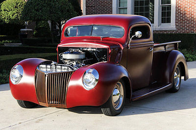Ford : Other Pickups Street Rod Custom '40 Pickup! 350ci V8, TH350 Automatic, Ford 8 in, Air Ride, Chopped Top!