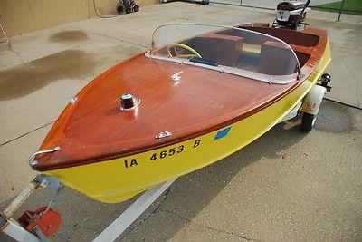 1954 Chris Craft Barracuda kit boat - all original panels no rot always garaged