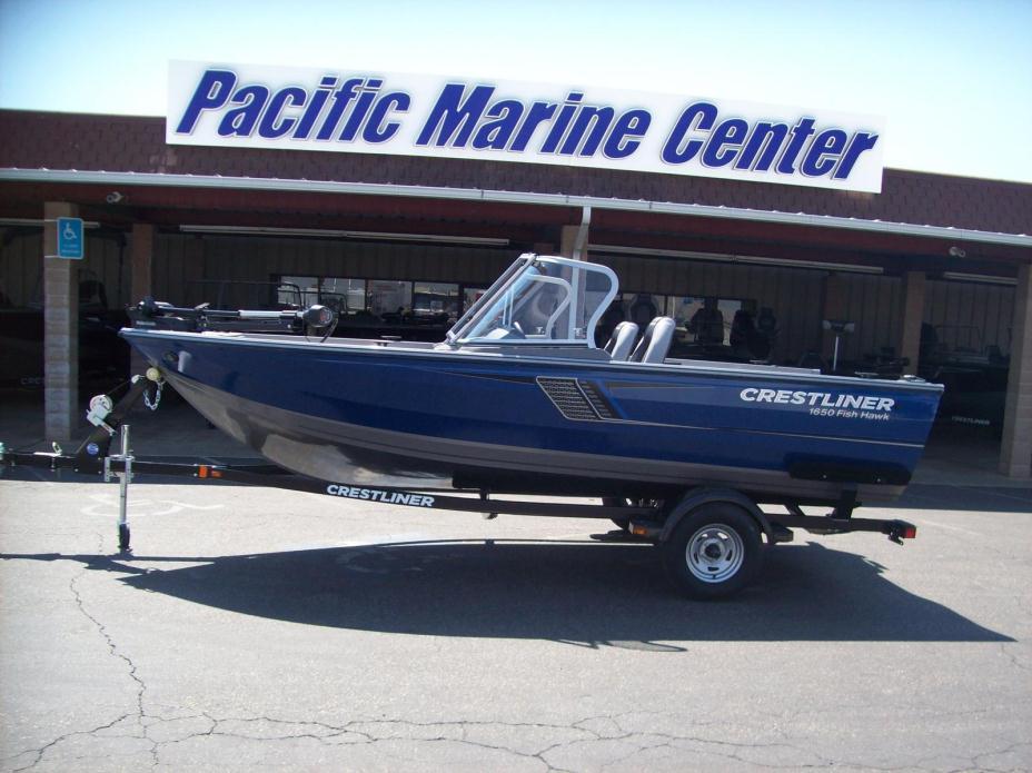 Crestliner fish hawk 1650 wt mercury 4 stroke boats for sale for Crestliner fish hawk