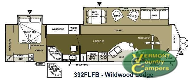 2013 Forest River Rv Wildwood Lodge 392FLFB Lodge