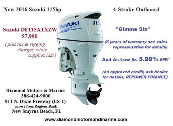 2016 SUZUKI 115hp 4-Stroke Outboard