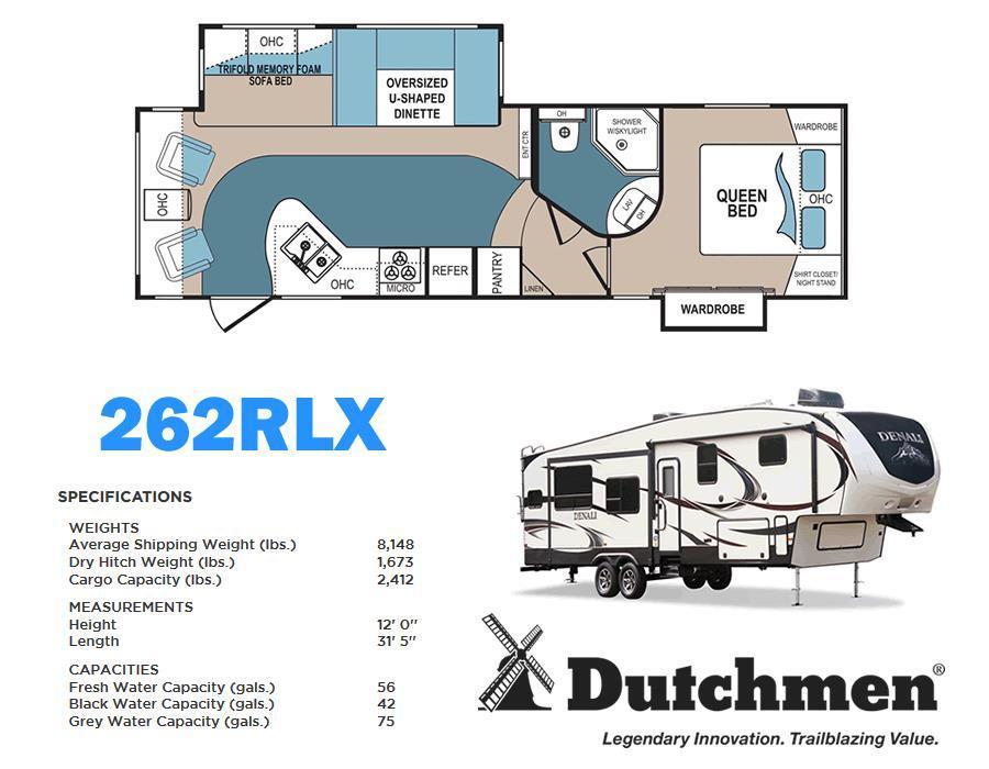 2017 Dutchmen Denali 262 RLX (By Keystone RV)
