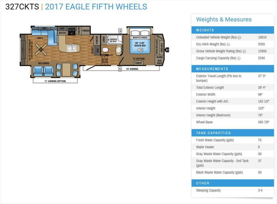 Jayco 327 Ckts Eagle RVs for sale on